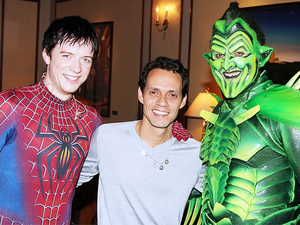 Grammy Winner Marc Anthony Swings by High-Flying Hit Spider-Man, Turn Off the Dark