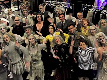 Watch The Addams Family Tour Stars Pay Comic Tribute to Broadway Hit Newsies