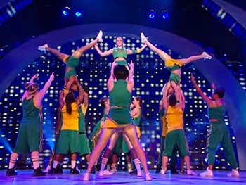Watch the High-Flying Cast of Bring It On 'Cross the Line' on Americas Got Talent 