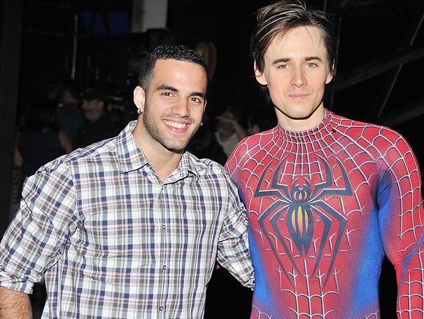 Rise Above! Olympian Danell Leyva Flips for Reeve Carney & the Cast of Spider-Man, Turn Off the Dark