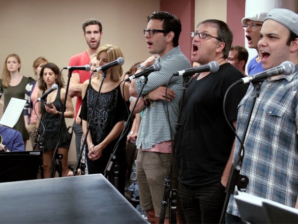 Exclusive Video! See the 'Breathtaking' First Orchestra Rehearsal With Rob McClure & the Cast of Chaplin