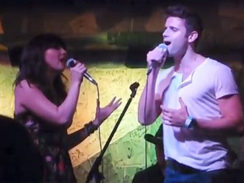 Watch Evitas Rachel Potter and Wickeds Kyle Dean Massey Get a Little Bit Country in Concert
