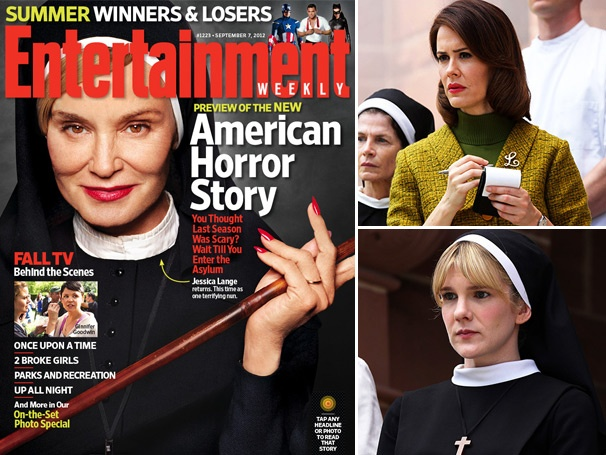 Get a First Look at Jessica Lange, Lily Rabe and Other Stage Stars in American Horror Story: Asylum