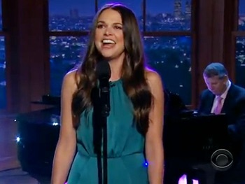 Check Out Bunheads Star Sutton Foster Singing Down With Love on The Late Late Show