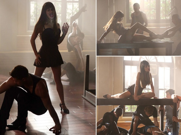 Lea Michele Gets a Sexy Makeover for Glee's 'Britney 2.0' Episode