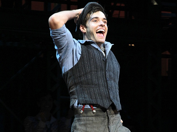 Check Out Exclusive Backstage Photos From Corey Cott's First Performance in Newsies