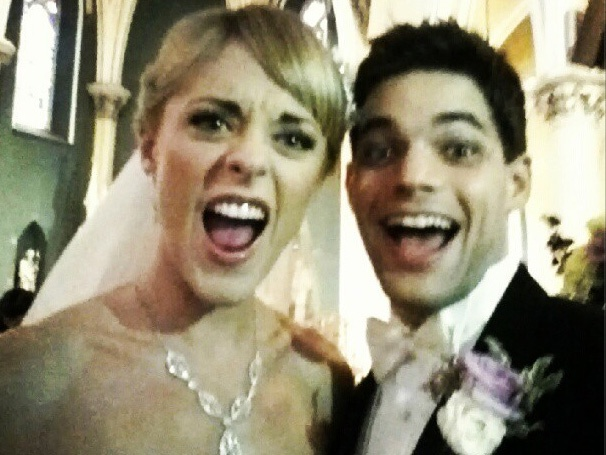 Broadway Couple Ashley Spencer and Jeremy Jordan Rock Best Wedding Pic Ever