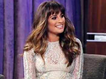 Glee's Lea Michele Publicly Shames BFF Jonathan Groff on Jimmy Kimmel Live!