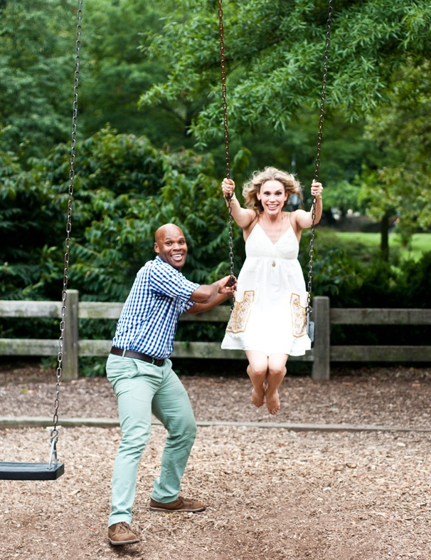 Broadway Besties! Mormon's Michael James Scott and Jersey Girl Jessica Rush Frolic in Central Park