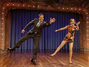 Harry Potter Star Emma Watson Teaches Jimmy Fallon Grease Dance Moves on Late Night