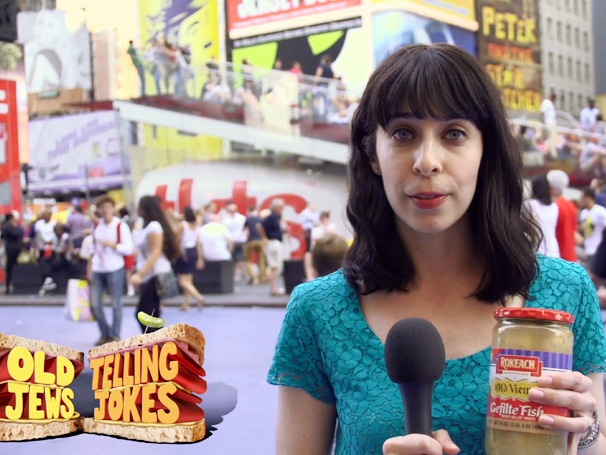 Exclusive! Old Jews Telling Jokes (Gefilte) Fishes for Answers in Times Square