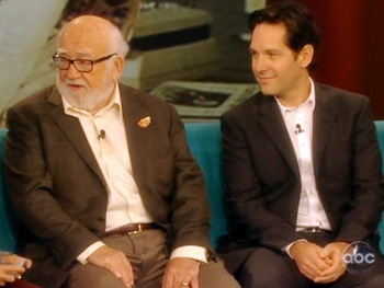 Watch Grace Stars Paul Rudd & Ed Asner Feel Up the Ladies of The View
