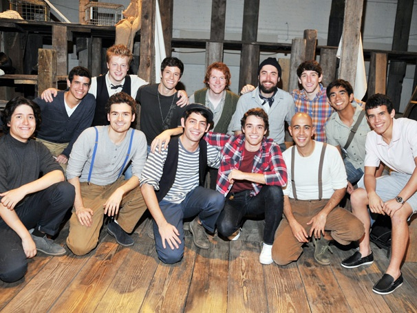 Newsboys Vs. Old Man: Corey Cott & Newsies Co-Stars Catch The Old Man and the Old Moon