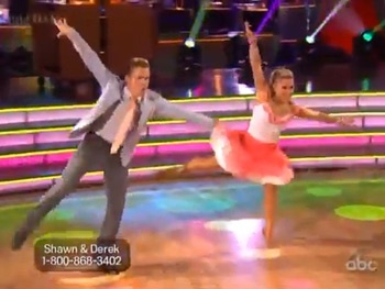 Watch 'Nicest Kids' Shawn Johnson & Derek Hough's Hairspray Jive on Dancing With the Stars