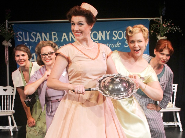 Tasty Comedy 5 Lesbians Eating a Quiche Begins Off-Broadway Performances