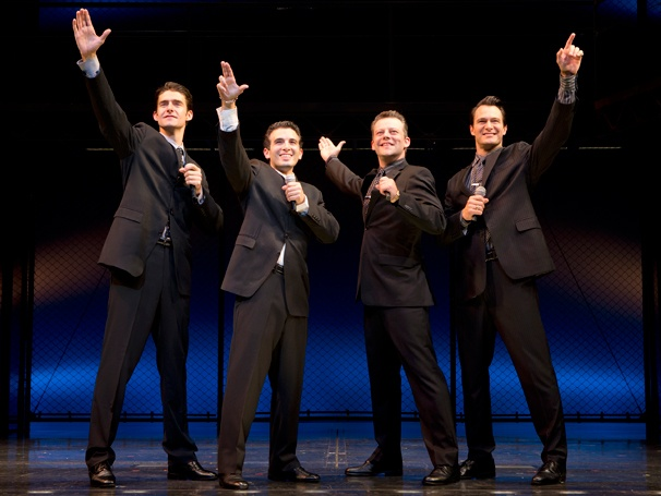 First Look! Jeremy Kushnier & Drew Gehling Join Jarrod Spector & Matt Bogart in Jersey Boys