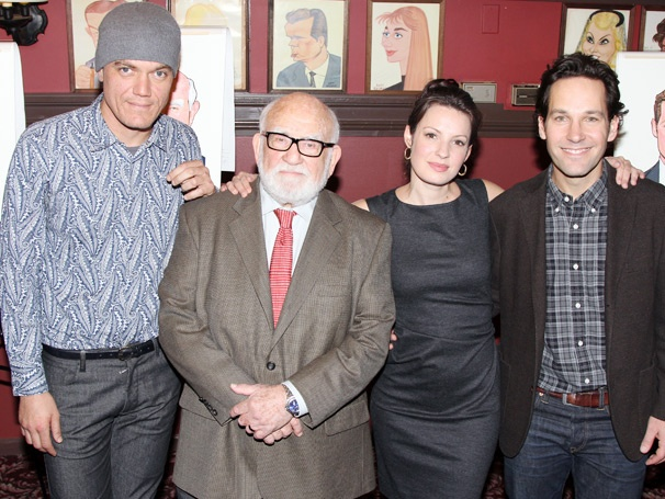 Picture Perfect! Sardi's Pays Tribute to Grace Leading Men Paul Rudd, Ed Asner & Michael Shannon