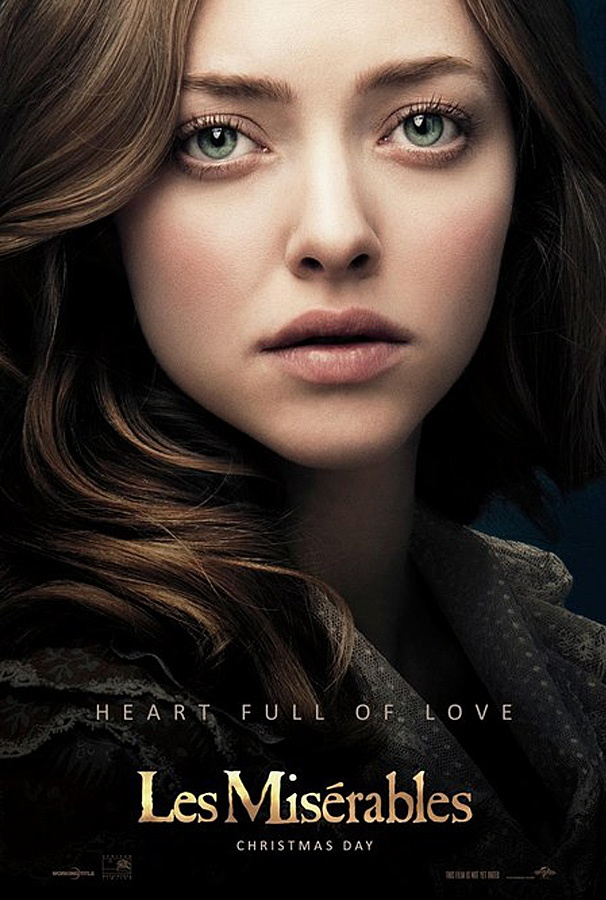Amanda Seyfried Opens Up Her 'Heart Full of Love' in New Les Miserables Poster