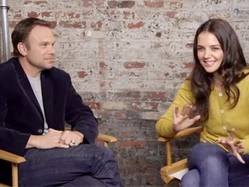Go Behind the Scenes of Katie Holmes and Norbert Leo Butz's Dead Accounts Photo Shoot
