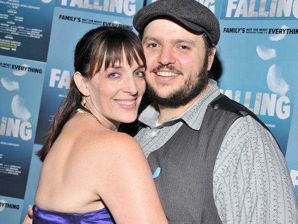 Julia Murney, Daniel Everidge and the Cast of Falling Soar on Opening Night