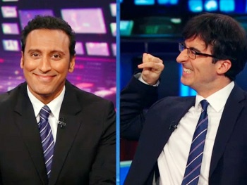 Disgraced Star Aasif Mandvi Returns to The Daily Show to Compare Jon Stewart to Mitt Romney 