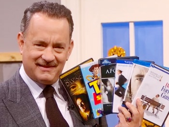Lucky Guy Star Tom Hanks Gets Into the Halloween Spirit on The Colbert Report