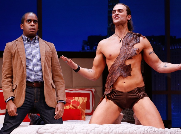 See a Semi-Nude Cheyenne Jackson Get Prehistorically Porntastic in The Performers