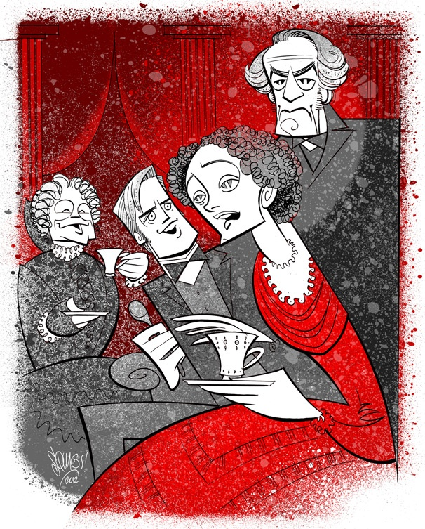 Squigs Sketches the 19th-Century Charm of The Heiress, Starring Jessica Chastain & Dan Stevens