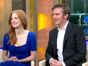 The Heiress' Jessica Chastain & Dan Stevens Talk American Accents & Downton Abbey Spoofs on GMA