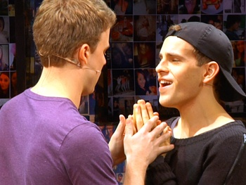 Get a Sneak Peek at Taylor Trensch, Jason Hite & the Hot New Cast of Off-Broadways Bare in Rehearsal