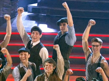 Watch Corey Cott and His Newsies Buddies Seize the Day on Dancing with the Stars