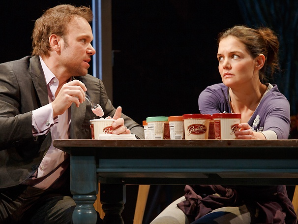 Sibling Revelry! Take a First Look at Norbert Leo Butz and Katie Holmes in Dead Accounts