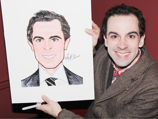 A Portrait Is Worth a Thousand Words! Sardi's Salutes Chaplin Star Rob McClure
