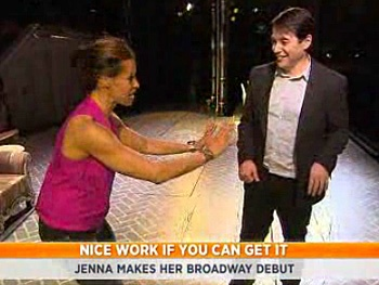 Watch Nice Work Star Matthew Broderick School Today Host Jenna Wolfe for Her Broadway Debut