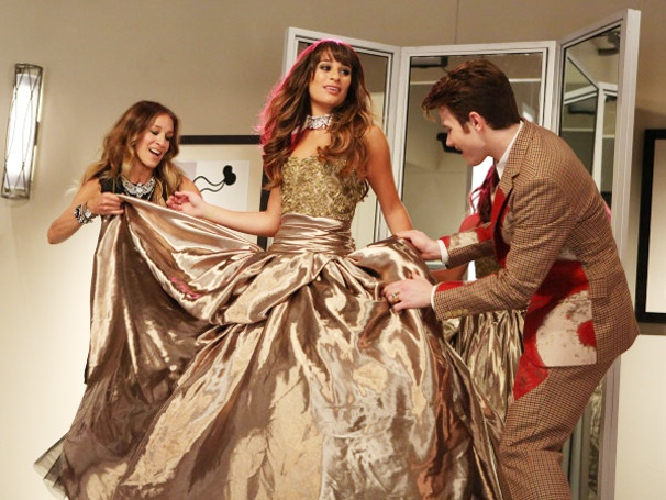 Sarah Jessica Parker, Lea Michele & Chris Colfer 'Have a Kiki' With the Help of 'Turkey Lurkey Time' on Glee