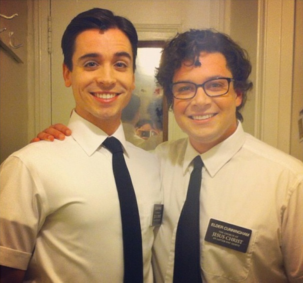 Respect Your Elders! Matt Doyle and Will Blum Show Their Brotherly Love Backstage at The Book of Mormon