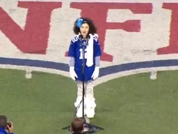 Annie Gets Patriotic! Watch Lilla Crawford Tackle the National Anthem