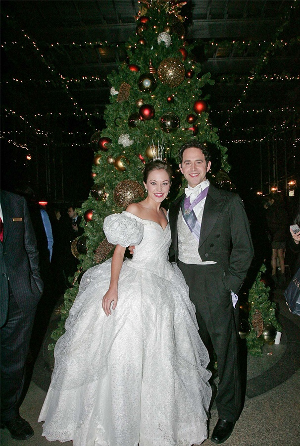 Cinderella Royalty Laura Osnes & Santino Fontana Jumpstart the Holiday Season at the Palace