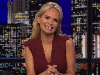 Watch Kristin Chenoweth Poke Fun at Hugh Hefner's Wedding on Chelsea Lately