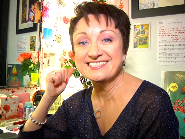 Caroline OConnor Shows Off Her Festive Christmas Story Dressing Room and Her Secret Talent Juice