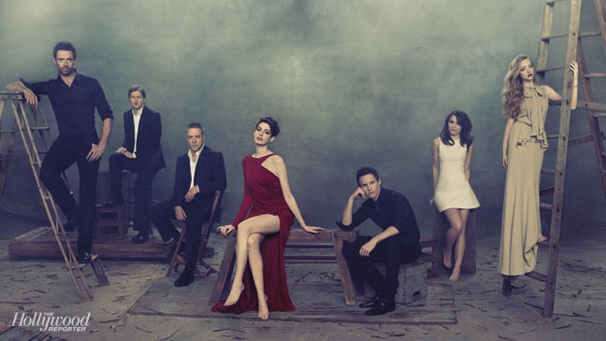 Les Misérables Stars Anne Hathaway, Hugh Jackman & More Strike a Pose for The Hollywood Reporter Cover