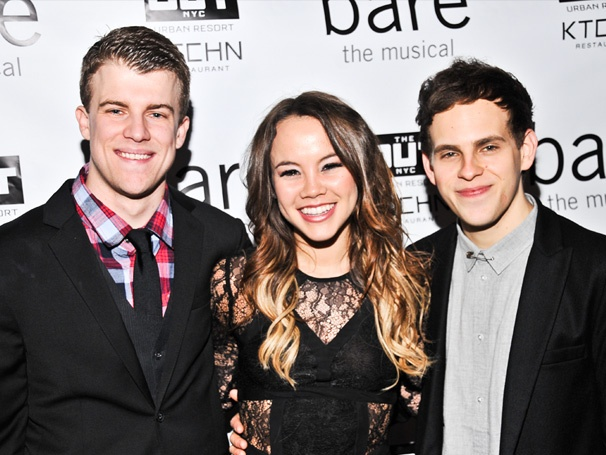 It's a Passionate Opening Night For Jason Hite, Elizabeth Judd, Taylor Trensch & the Cast of Bare