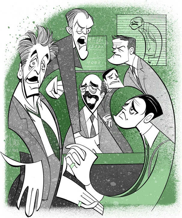 Squigs Sketches Al Pacino, Bobby Cannavale and the Seedy Salesmen of Glengarry Glen Ross