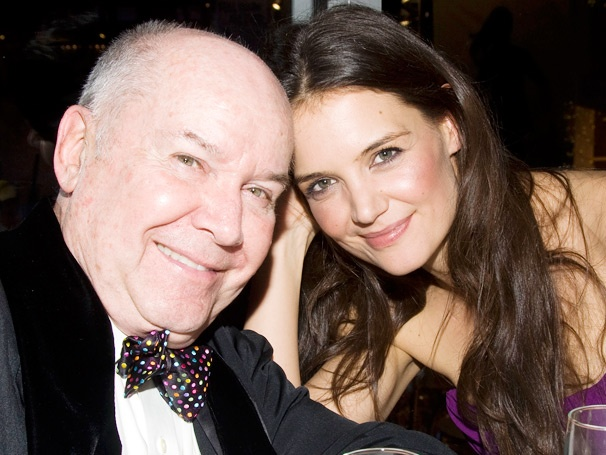 Katie Holmes Cozies Up to Dead Accounts Director Jack OBrien for Champagne and Caroling