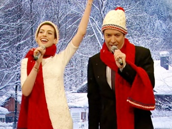 Watch Les Misérables' Anne Hathaway Play Christmas Carol Mad Libs with Jimmy Fallon