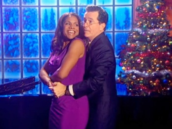 Audra McDonald & Stephen Colbert Get Cozy Crooning 'Baby, It's Cold Outside'