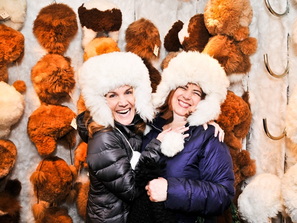 BFFs Erin Dilly and Anne L. Nathan Go Christmas Shopping in a Winter Wonderland
