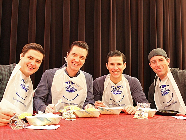 Jersey Boys Tour Stars Dive Into a Bowl of Cincinnatis Famous Skyline Chili