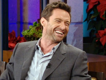 Watch Les Miz Star Hugh Jackman Teach Jay Leno 'Gangnam Style' & Play 'Two Guys, Two Cups' 
