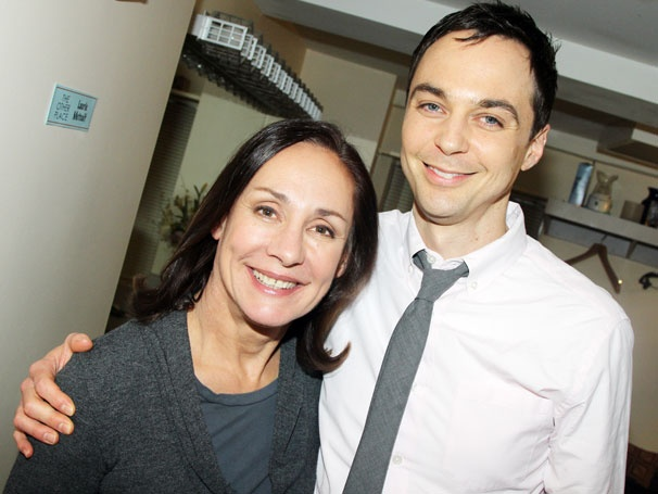 Jim Parsons Congratulates Big Bang Mom Laurie Metcalf & Joe Mantello Backstage at The Other Place